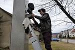 Bustu T. G. Masaryka odhalili tento týden v Jezernici na Přerovsku.