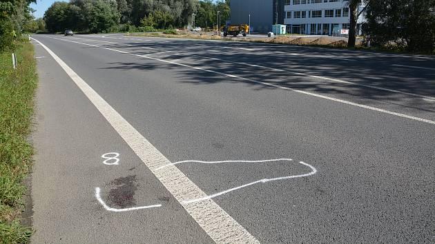Lipnická ulice v Přerově. Místo tragické nehody, při které zemřely dvě dívky