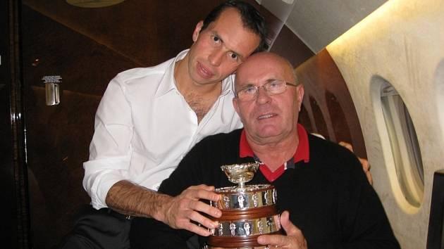 Tenista Radek Štěpánek s tatínkem