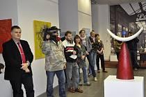 Vernisáž v přerovské Výstavní síni Pasáž zahájila 15. května výstavu dvou olomouckých výtvarníků.
