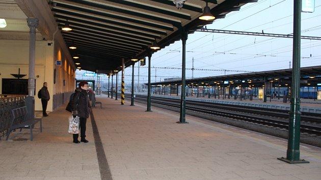 Vlakové nádraží v Přerově. Ilustrační foto.