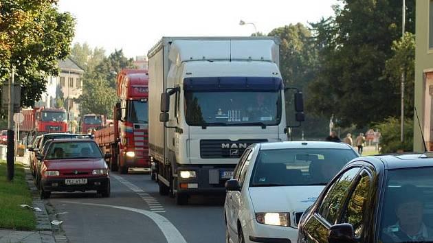 Dopravní zácpy v Přerově