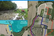 Snímek z videoprezentace protipovodňových opatření na řece Bečvě