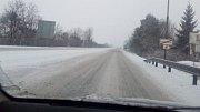 Zasněžené cesty na Přerovsku a Hranicku, úterý 8. ledna 2019