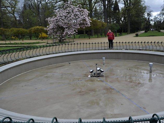 Kašna v přerovském parku Michalov