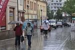 Deštivý Přerov v pondělí 3. června 2013