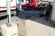 Divoká dopravní úseky v Přerově. Ilustrační foto
