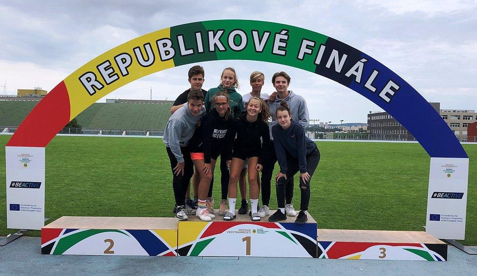 Žáci přerovské ZŠ Za mlýnem uspěli v republikovém finále Odznaku všestrannosti Sazka olympijského víceboje.