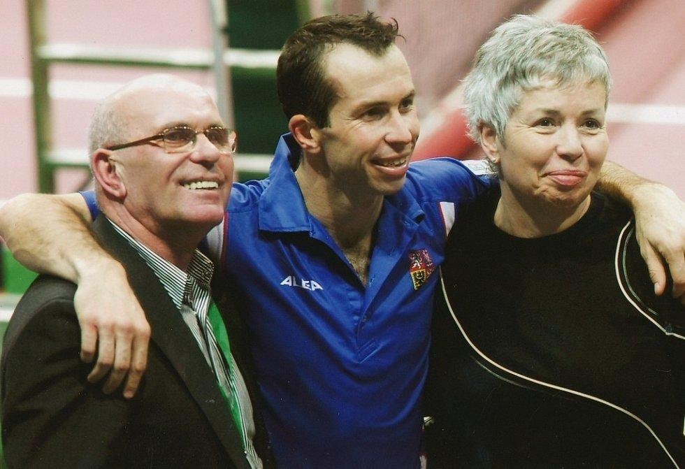 Tenista Radek Štěpánek s rodiči