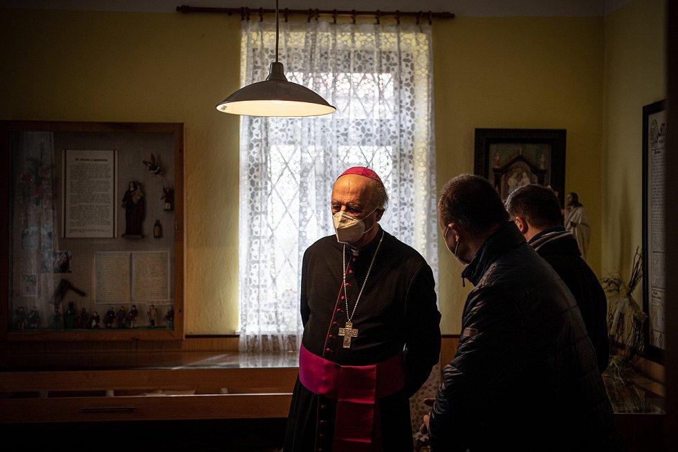 Muzeum Antonína Cyrila Stojana, 14. března 2021 v Běnově.  Arcibiskup Jan Graubner.