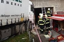 Bouračka náklaďáku v Kojetíně