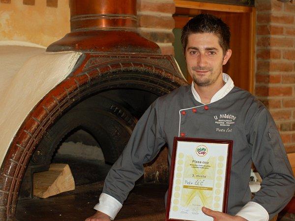 Petr Čéč, držitel třetího místa vsoutěž Pizza-cup 2012