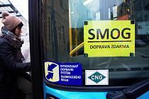 Smogová situace  - v Přerově MHD zdarma