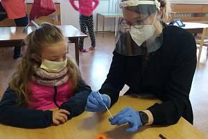 Testování v mateřské škole v Přerově