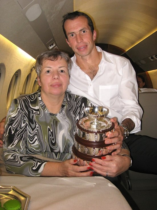 Tenista Radek Štěpánek s maminkou