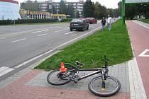 nehoda na Želatovské ulici v Přerově si vyžádala lehké zranění cyklistky