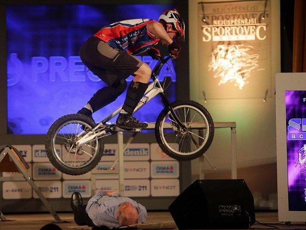 Biketrialista Pavel Procházka. Vyhlášení Nejúspěšnějšího sportovce roku 2015vPřerově