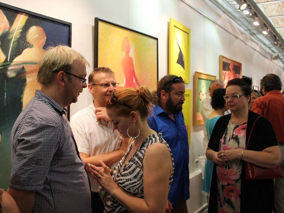 Na výstavu do přerovská galerie zavítali v pátek 7. srpna přátelé, rodina i obdivovatelé díla Petra Markulčeka.
