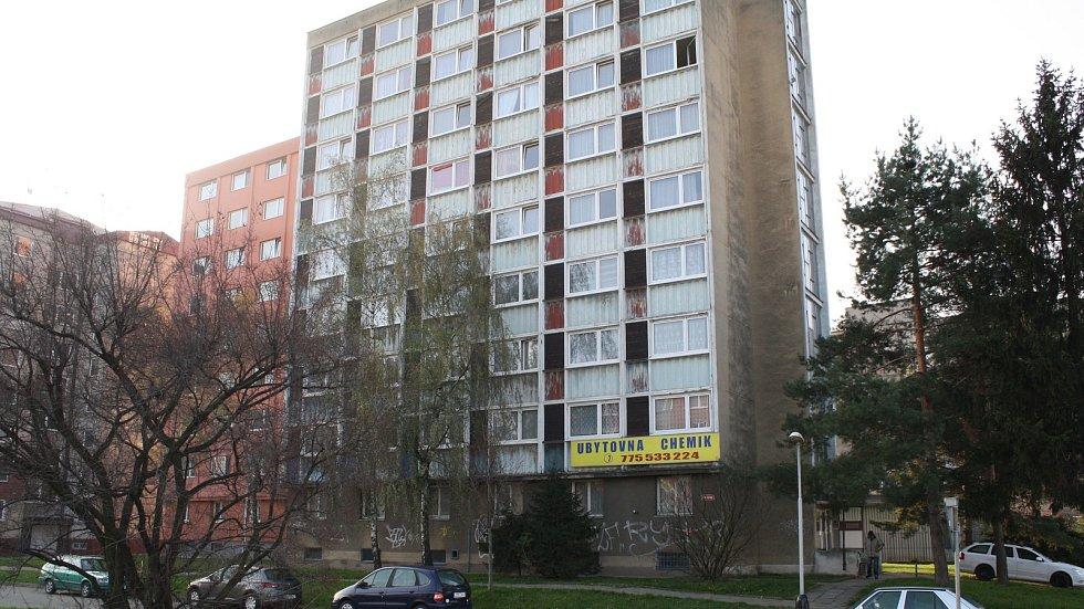 Budova ubytovny Chemik v ulici Velké Novosady