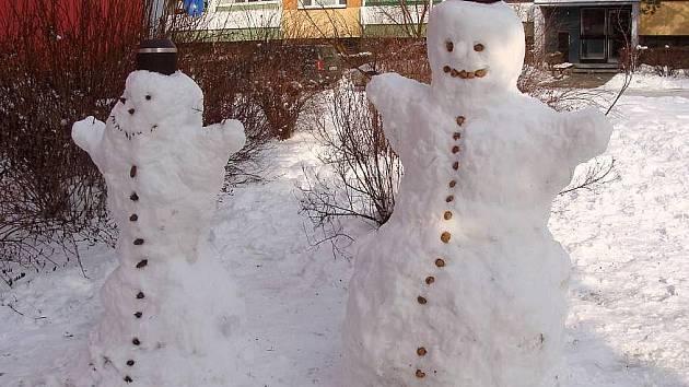 Sněhuláci v Přerově