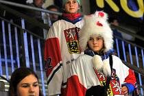 Čeští hokejisté do dvaceti let proti Rusku - přerovské publikum