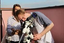 Pozorování přechodu marsu přes slunce na přerovské hvězdárně