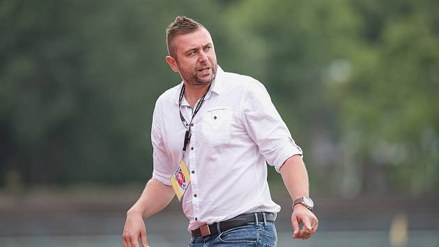 Trenér Přerova David Rojka.