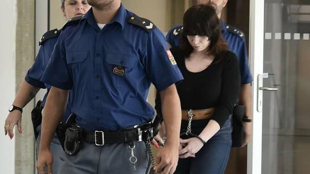 Alena G., odsouzená za vraždu tříleté dcery, u krajského soudu v Olomouci, 31. 8. 2020