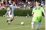 Filip Novák. Benefiční fotbalové utkání v Kozlovicích mezi výběrem Kopaček a Hokejek