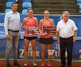 Přerovský Zubr Cup 2017. Semifinále dvouhry a finále čtyřhry. Miriam Kolodziejová a Dagmar Dudláková.