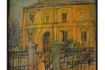 Jedním z děl vystavených na prvním ročníku výtvarného bienále bude i perokresba Jiřího Vrbíka nazvaná Strašidelný dům.