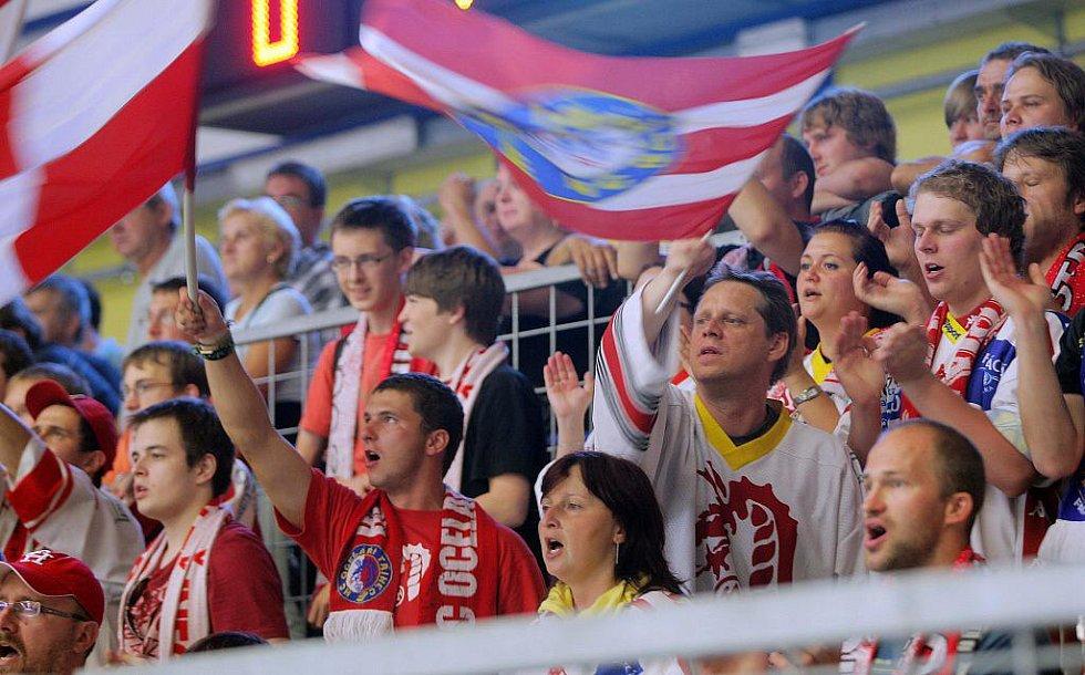 Petrohrad vs. Třinec - přípravný zápas v Přerově - fanoušci v akci