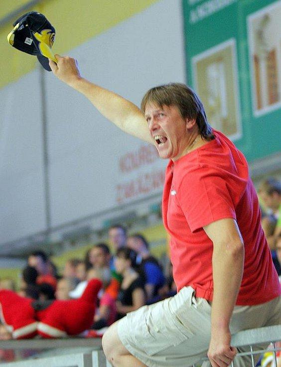Petrohrad vs. Třinec - přípravný zápas v Přerově- fanoušci v akci