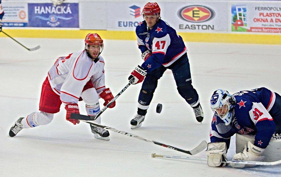 Petrohrad vs. Třinec - přípravný zápas v Přerově