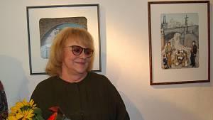 S obrovským zájmem veřejnosti se setkala vernisáž výstavy děl Ivy Hüttnerové v Galerii města Přerova.