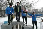 Amatérské závody v biatlonu v areálu haly TJ Spartak Přerov