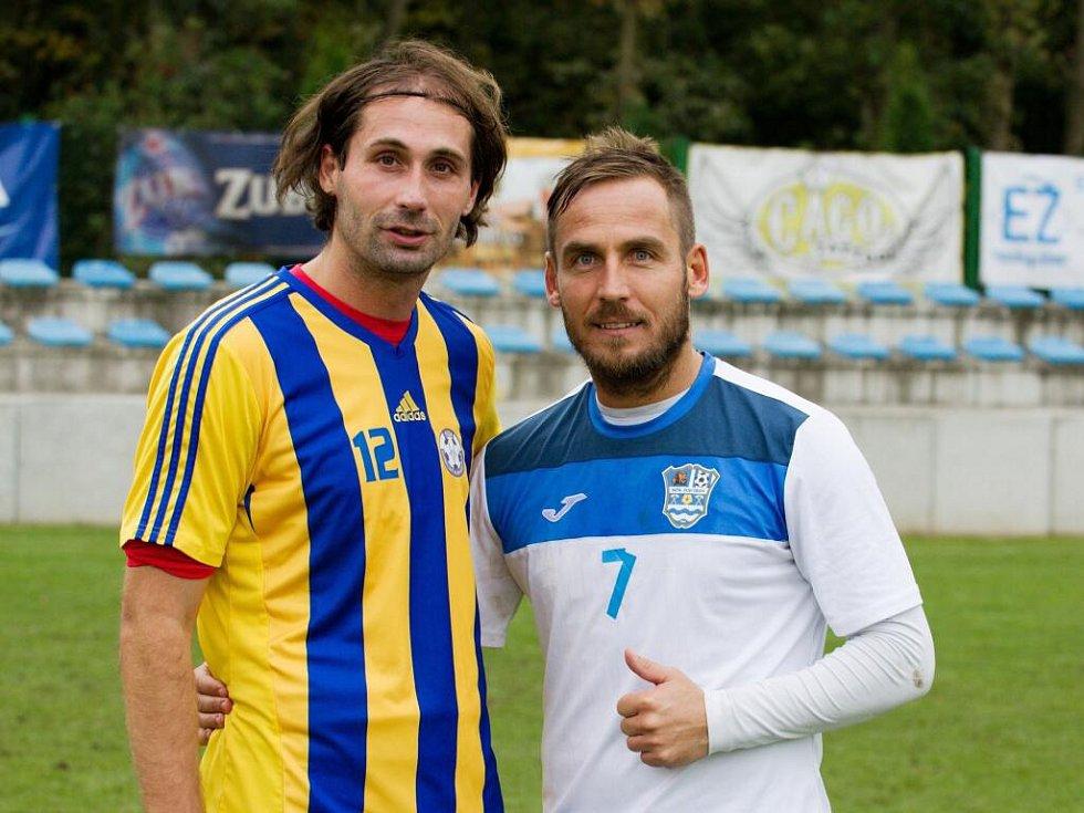 Bývalí prvoligoví hráči – Libor Žůrek (vlevo) a Miroslav Matušovič.