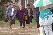 Nábřeží Edvarda Beneše v Přerově v červenci 1997