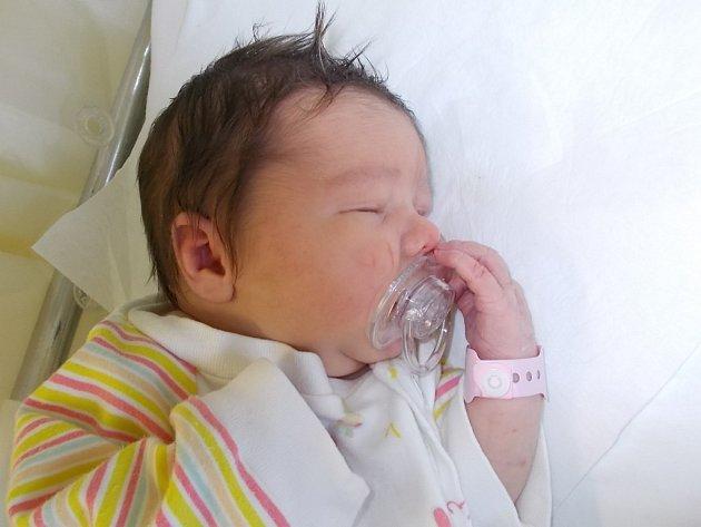 Jana Martinková, Kozlovice, narozena dne 17. ledna 2016 v Přerově, míra: 51 cm, váha: 3770 g