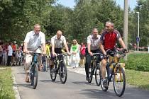 Otevření nové části cyklostezky Bečva z Lipníku do Oseku