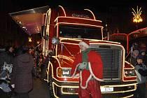 Vánoční kamion Coca-Cola v Přerově