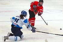 Hokejové mistrovství žen do 18 let v Přerově: Kanada vs. Finsko