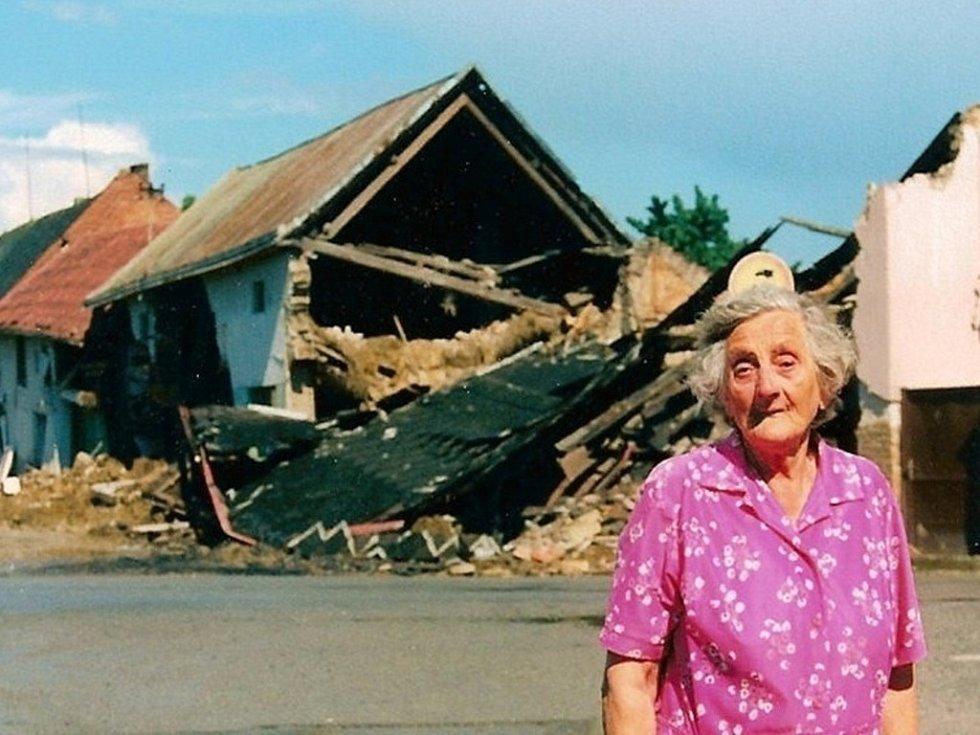 Povodeň v Bochoři v roce 1997 - Partyzánská ulice