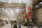 Požár v areálu bývalých Přerovských strojíren, 29. 5. 2020