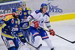 Hokejisté Přerova (v modrém) doma porazili Litoměřice 5:3.
