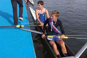 Úspěšní přerovští dorostenečtí veslaři Tomáš Gajdušek a Martin Sedlák.