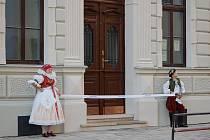 Otevření opravené školy v Tovačově