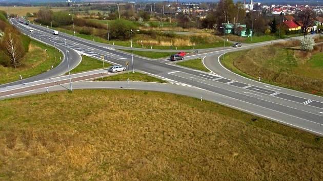 Riziková křižovatka Na Horecku u Lipníka nad Bečvou