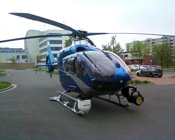 Policejní vrtulník vPřerově
