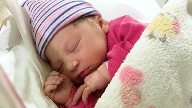 Melissa Čepeláková, Přerov, narozena 21. ledna 2020 v Přerově, míra 46 cm, váha 2940 g
